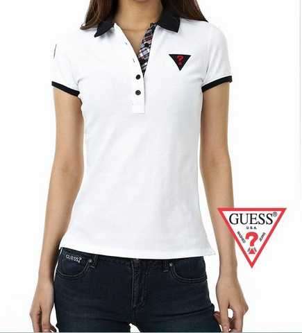 t Shirt Femme Rugby Polo Fashion Gris Rouge Rouge Blanc Guess polo nNwvm80